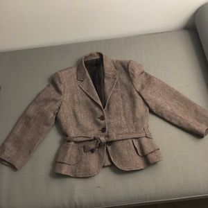 Beautiful tweed blazer with ruffle edges!